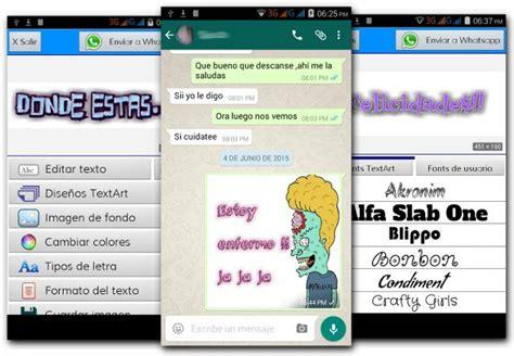 es una curiosa aplicacion que transforma cualquier texto en una hacer textos personalizados para whatsapp en android