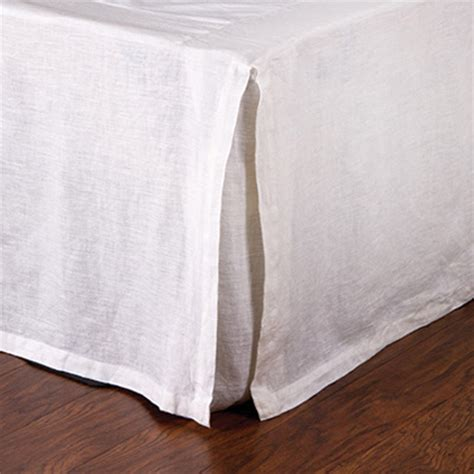 linen pleated bed skirt by pom pom at home