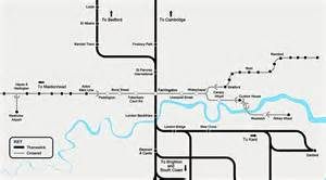 themes link train map thameslink rail project takes shape in stunning aerial