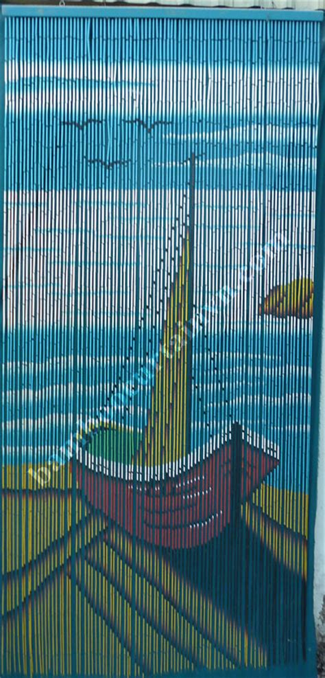 painted bamboo beaded curtains bateau bamboo door curtain painted 100 by hand