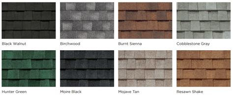 certainteed shingles colors chart timberline vs landmark shingles compare colors and styles