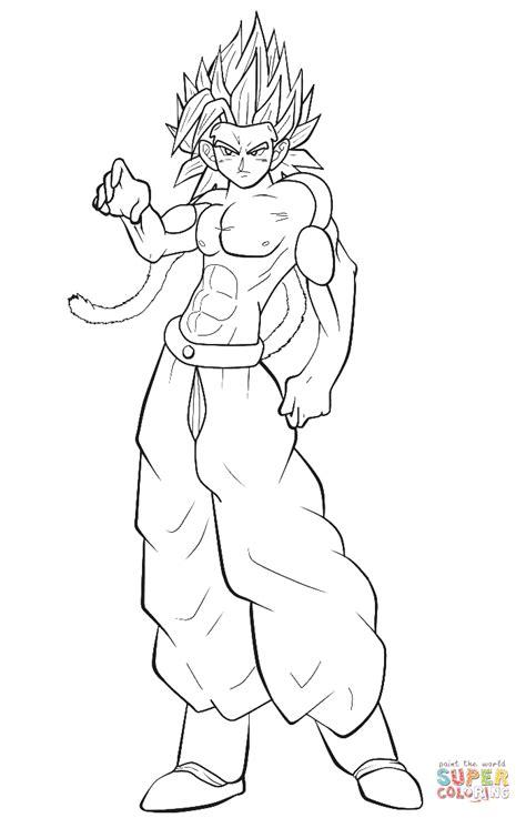 Goku Super Saiyan 3 Coloring Pages Goku Super Saiyan 2 Goku Saiyan 3 Coloring Pages