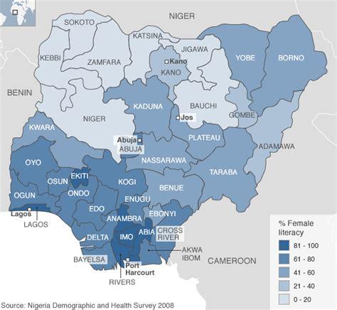 educational map snap africa literacy map of nigeria politics nigeria