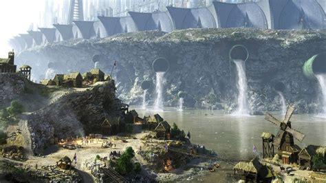 desktop wallpaper hd village download 1920x1080 hd wallpaper giant fortess sewer river
