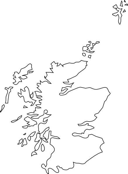 Scottish Outline by Map Of Scotland Clip At Clker Vector Clip Royalty Free Domain