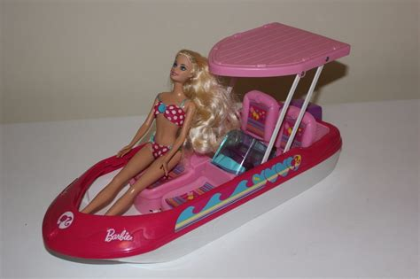 barbie boat ebay barbie glam speed boat and doll playset collectable rare