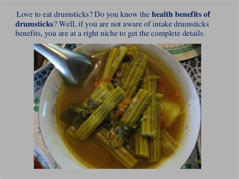 Drumsticks For Health by Top 10 Health Benefits Of Drumsticks