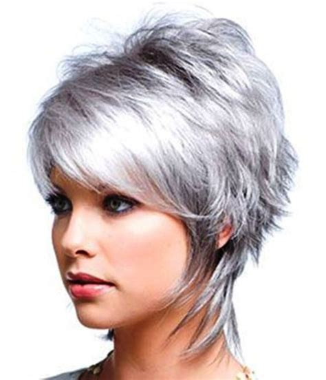 shagy short with silver highlights haistyles 382 best silver and grey hair styles images on pinterest