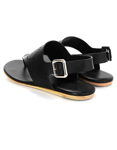 hermes h sandals hermes black leather perforated h sandals sz 36 with