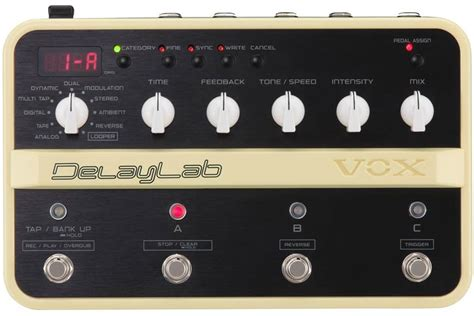 vox delay lab effects database