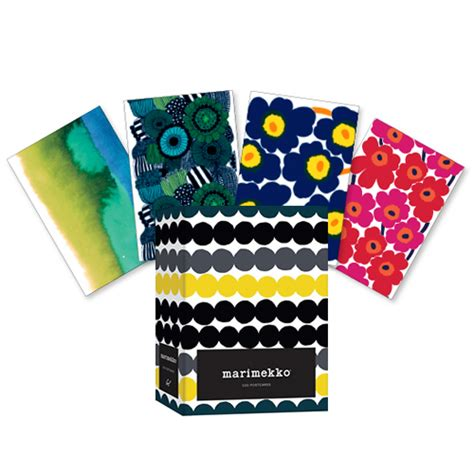 libro marimekko 100 postcards marimekko postcards set of 100 unique gifts for her