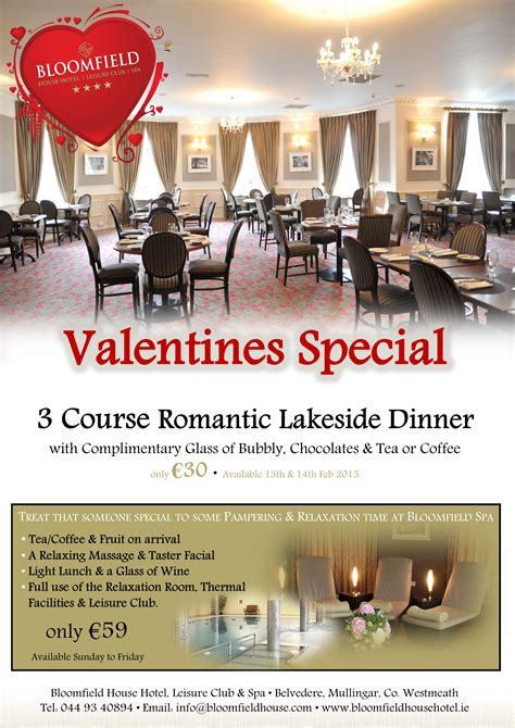 valentines at bloomfield house hotel