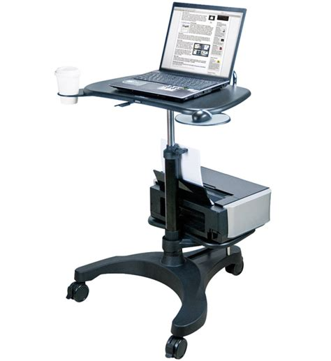 laptop and printer desk aidata adjustable laptop desk with printer tray in