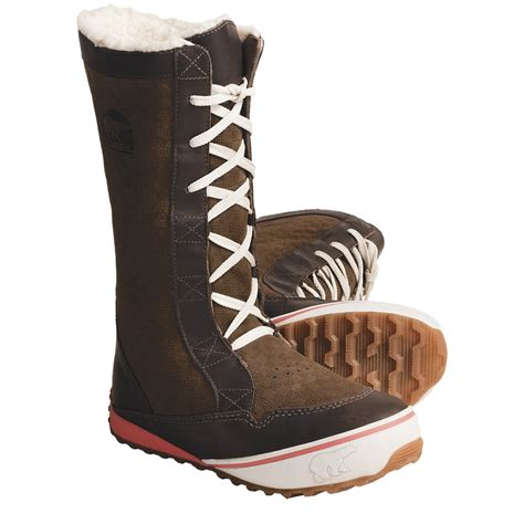 sorel mackenzie lace boots insulated