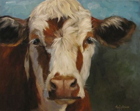 scow paintings dancing brush art by cheri wollenberg cow painting of
