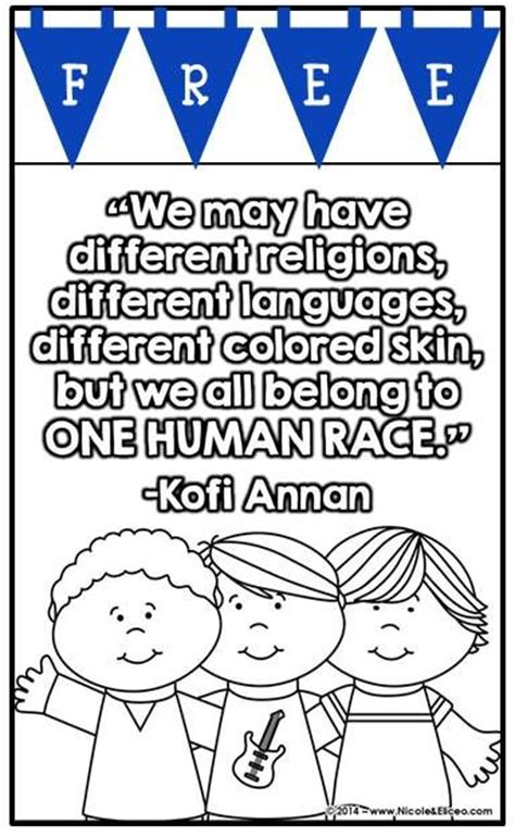multicultural coloring pages preschool activities quote posters and colors on pinterest