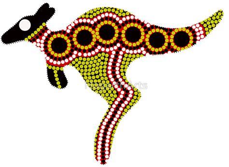 Australian Animal Wall Stickers quot aboriginal art kangaroo quot stickers by hogartharts redbubble