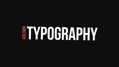 typography vimeo modern typography after effects template on vimeo