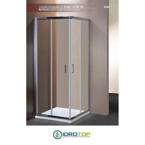 box doccia cromato box doccia quadrato 80x80 cristallo trasparente 6mm telaio