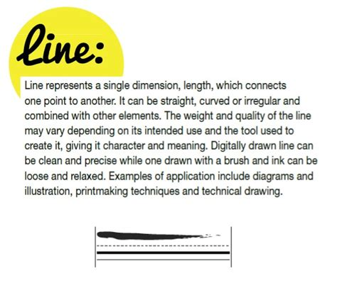 design in art definition definition of line 9 vis comm design pinterest