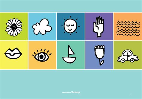 free vector doodle icons doodle vector icons free vector