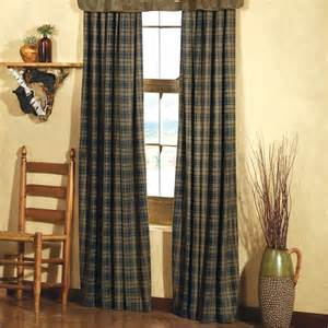 Rustic Window Valances Country Plaid Curtains Shop Everything Log Homes