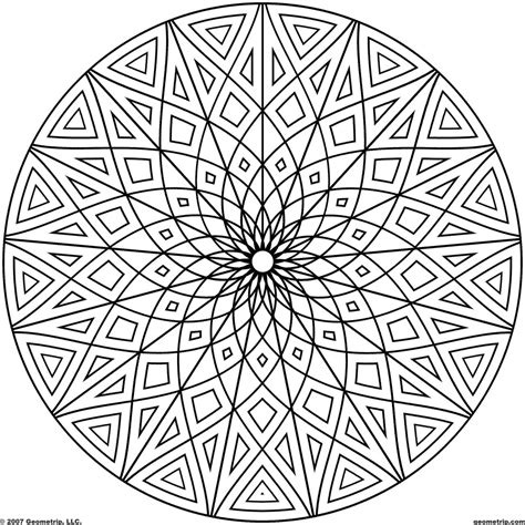 coloring pages of cool patterns cool geometric designs coloring page coloring page for