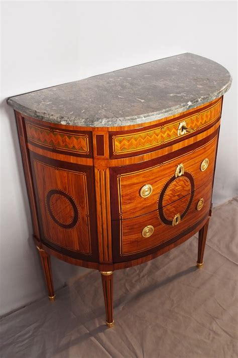 Commode Louis 16 by Commode Demi Lune D 233 Poque Louis Xvi