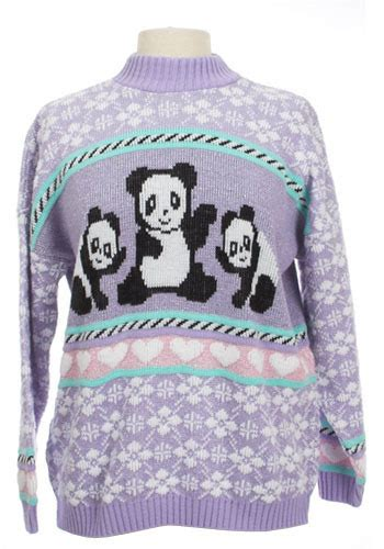 Sweater Panda To playful panda sweater mod retro vintage sweaters