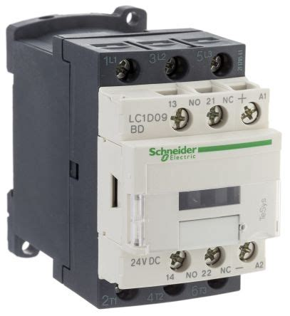 lc1d09bd tesys d lc1d 3 pole contactor 3no 9 a 4 kw