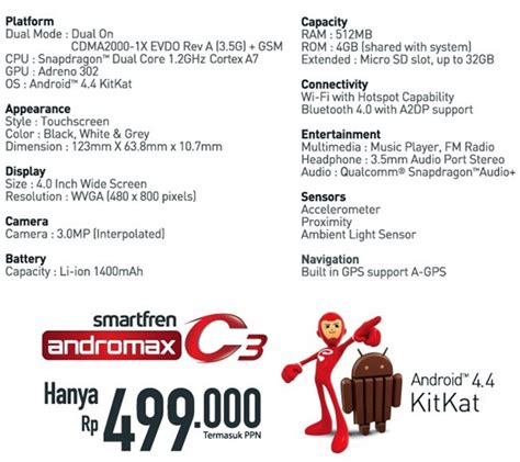 Hp Smartfren Andromax 4g Lte Type Prime Andromax Prime harga hp smartfren andromax c dan spesifikasi holidays oo