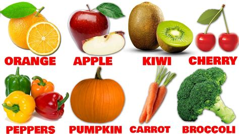 5 fruits and vegetables marvelous fruits and vegetables names 5 learn names of