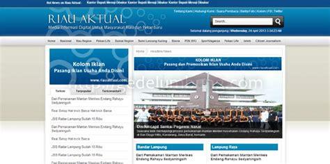 membuat tilan web yang menarik dengan php desain web tutorial contoh desain web portal berita