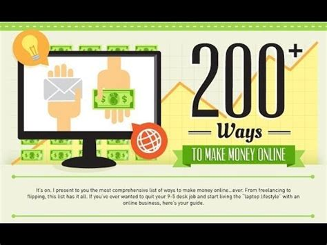Top Online Money Making Sites - 200 best ways websites to earn money online without