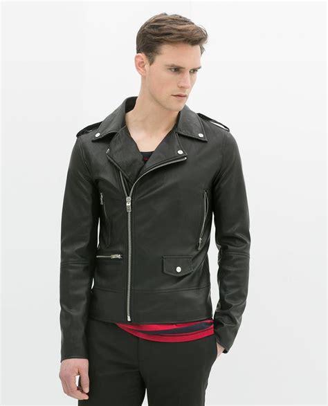 Jual Leather Jacket Zara image 2 of faux leather biker jacket from zara fashion zara leather and