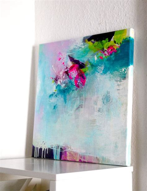 acrylic paint diy original abstract painting modern work of by
