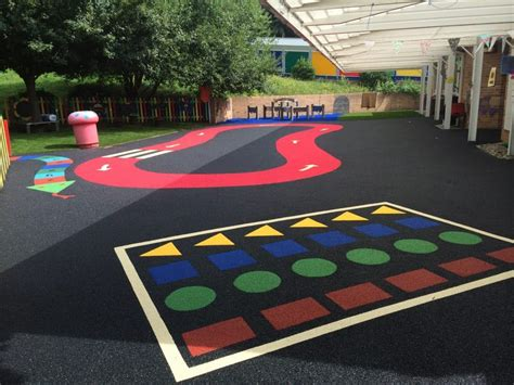 Artificial Grass Wet Pour Rubber Playground Surface SSP