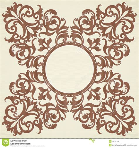 free baroque design elements vector vector baroque ornament in victorian style stock vector