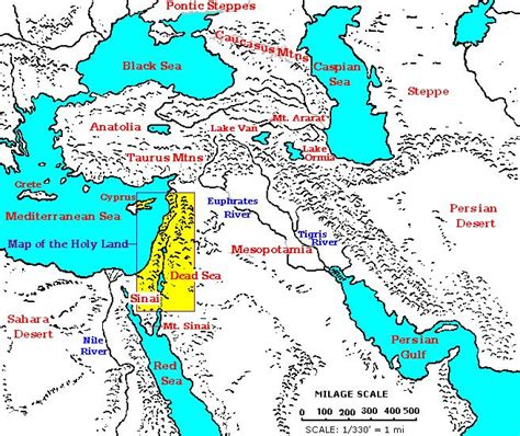 middle east map bible times prepare ye the way the bible lands