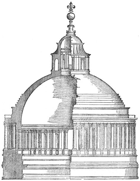 File:Bramante's dome for St. Peter's, from Serlio