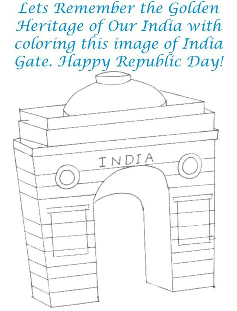 Coloring Pages Of India Gate   india gate coloring page printable for kids