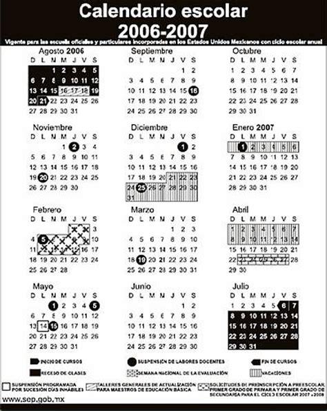 Calendario Escolar 2006 Huauchinango Puebla Publica Sep Calendario Escolar 2006