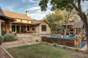 country architecture style hill country farmhouse farmhouse pool by