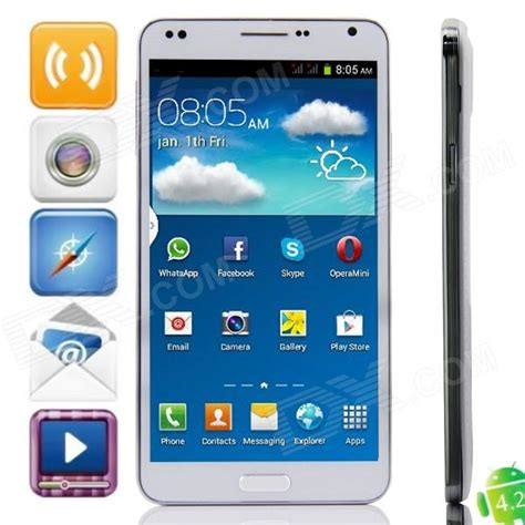 cell phones smartphones m n9000w dual android 4 2 2 wcdma smartphone w 5 5 quot 4gb