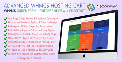 Advanced Whmcs Hosting Cart Order Form Onepage Review Checkout Codeholder Net Whmcs Order Form Templates Free