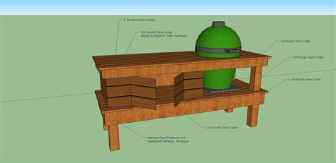 diy large green egg table plans wooden  stanley