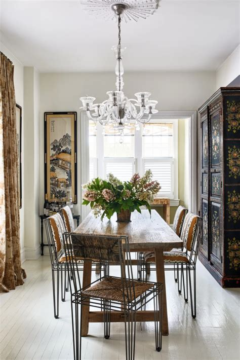 eclectic mix  antique  modern   dining room