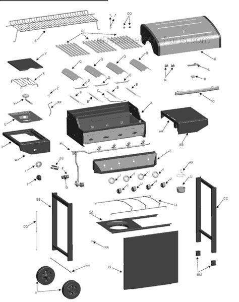 char broil parts diagram char broil 463440109 parts list and diagram