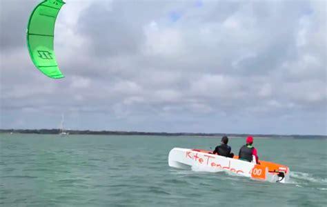 small boat kite kitesurfing blog kite tender worlds first