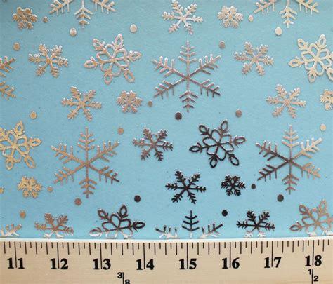 printable organza fabric flocked metallic snowflakes blue print organza fabric by